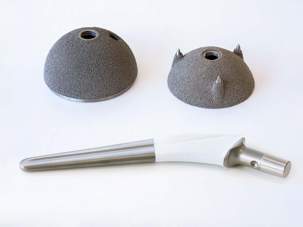 Diversos tipos de recubrimiento de protesis