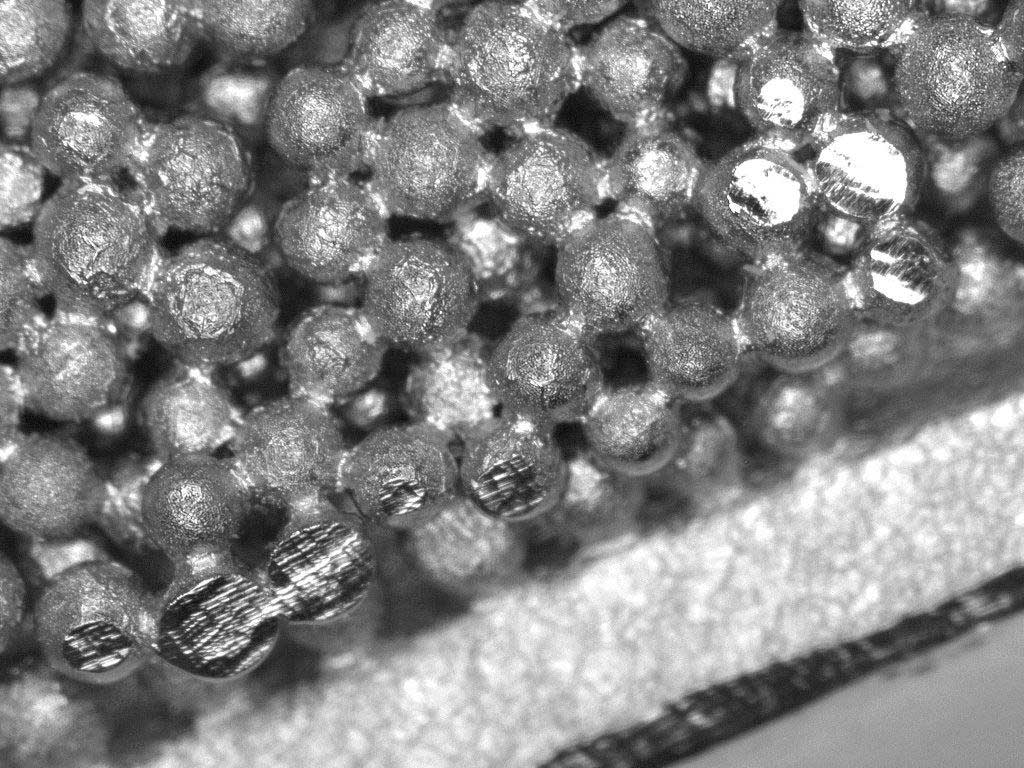 Ampliación microscópica del recubrimiento 2