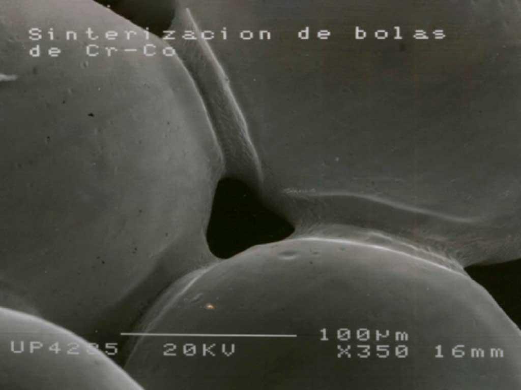 Medición microscópica de la unión de Micro esferas