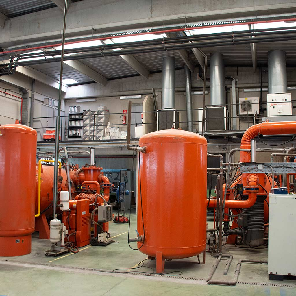 Furnace area for coating